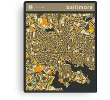 BALTIMORE MAP Canvas Print