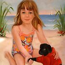 Gabrielle at the Beach with Mason by Cathy Amendola