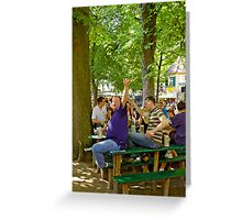 "Having a good time at the ""Kerwa"", Erlangen. Greeting Card"
