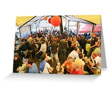 """In the Steinbach Tent at the """"Kerwa"""", Erlangen. Greeting Card"""