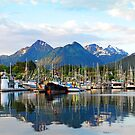 Docked in Sitka, Alaska by Jennifer Hulbert-Hortman