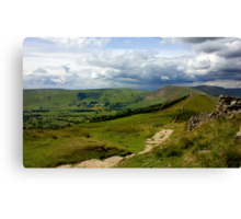 The Great Ridge, Hope Valley. Canvas Print