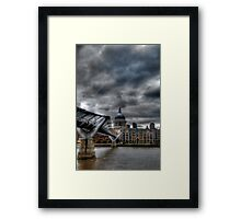 St Paul's Cathedral HDR Framed Print