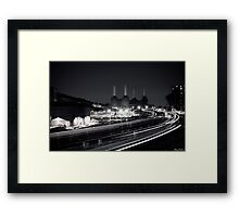 Victoria Train Line Framed Print