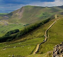 The Great Ridge, Hope Valley, Derbyshire. by Darren Burroughs