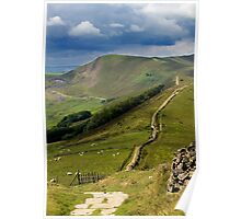 The Great Ridge, Hope Valley, Derbyshire. Poster