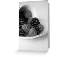 Sweetness in Black and White Greeting Card