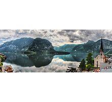 Hallstatter Lake, Austria - HDR Panorama Photographic Print