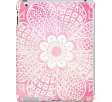 Abstract girly pink and white watercolor floral  iPad Case/Skin
