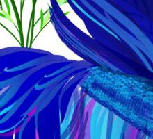 Big Blue Siamese Fighting Fish Sticker