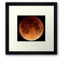 Red Blood Moon Eclipse 2015 Framed Print