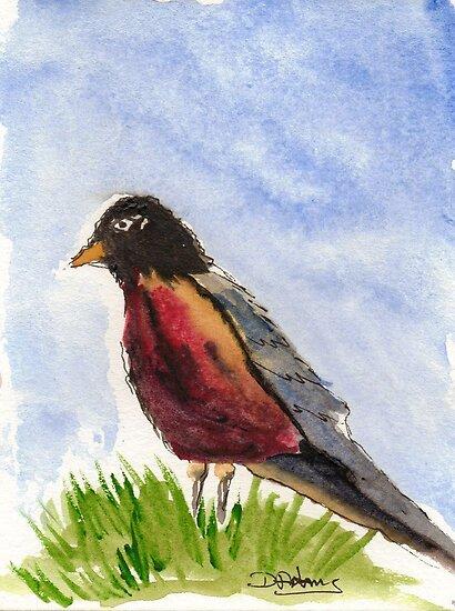 Eurasian Bullfinch by Debbie  Adams