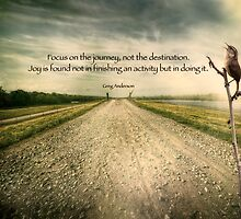 Focus on the journey . . .  by Bonnie T.  Barry