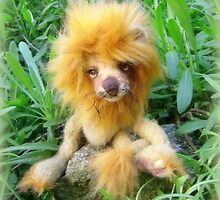 Lazarus Lion - Handmade bears from Teddy Bear Orphans by Penny Bonser