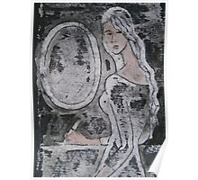 Mirror, secret, writing, young girl Poster