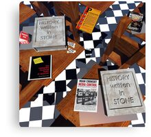 *ANCIENT HISTORY, ANCIENT LIES*  Education Is A Modern Enigma Canvas Print