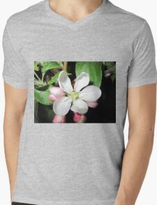 Apple blossom white Mens V-Neck T-Shirt
