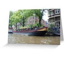 Houseboat in Amsterdam Greeting Card