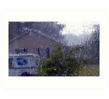 Through Rain, Sleet, or Snow, The Mail Must Go! Art Print