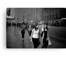 Shower on 7th avenue Canvas Print