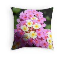 Pretty Flowers With a Little Critter Throw Pillow