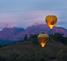 Ballooning near Wilpena Pound, Flinders Ranges South Australia by Matt Harvey