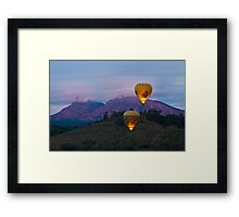Ballooning near Wilpena Pound, Flinders Ranges South Australia Framed Print
