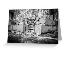 Life, Crumbling Down Around Us Greeting Card
