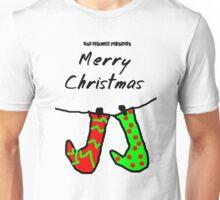 Bad Drawer Presents Stockings Unisex T-Shirt
