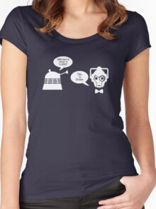 Daleks vs. Cybermen - The Inelegant Dalek Women's Fitted Scoop T-Shirt