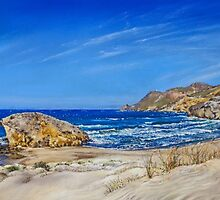 Monsul Beach - Playa Monsul by Margaret Merry