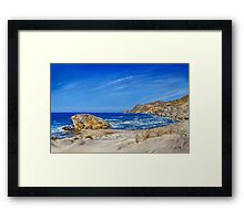 Monsul Beach - Playa Monsul Framed Print