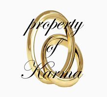 property of karma Womens Fitted T-Shirt