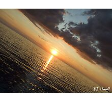 Sunset Over the Water Photographic Print