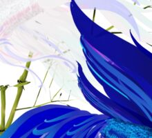 Blue 'n' White Siamese Fighting Fish Sticker