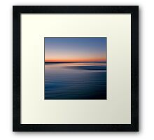 Motion sunset Framed Print