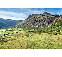 The Langdale Pikes Lake District Photographic Print