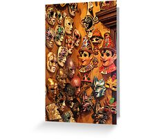 In Disguise! A Masked Wall! Greeting Card