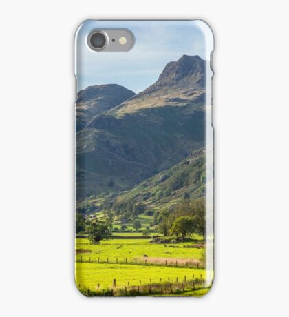 The Langdale Pikes Lake District National Park iPhone Case/Skin