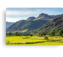 The Langdale Pikes Lake District National Park Canvas Print