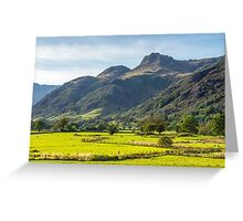 The Langdale Pikes Lake District National Park Greeting Card
