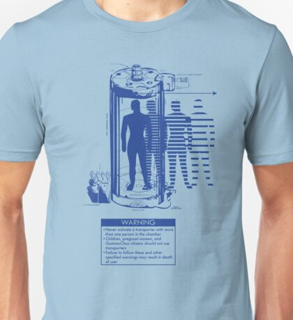 Teleporter Warning Label Shirt T-Shirt