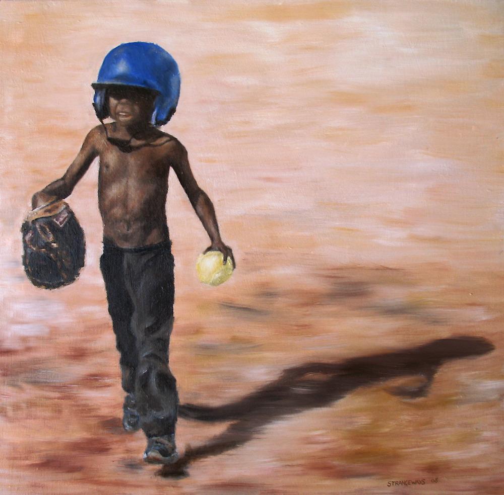 Baseball Boy III by alstrangeways