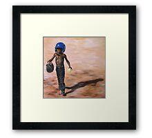 Baseball Boy III Framed Print