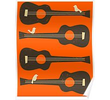 BIRDS ON A GUITAR STRING Poster
