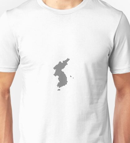 Pixel Korea Map Unisex T-Shirt