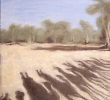 Shadows on the Todd River Bed, Alice Springs by alstrangeways