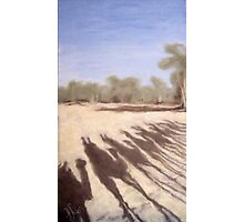 Shadows on the Todd River Bed, Alice Springs Photographic Print
