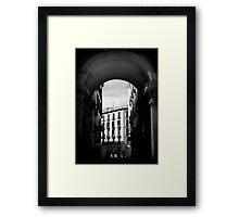Arches of Plaza Mayor Framed Print
