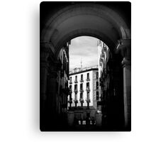 Arches of Plaza Mayor Canvas Print